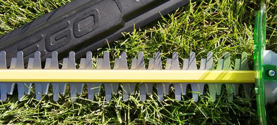 EGO Hedge Trimmer blade detail