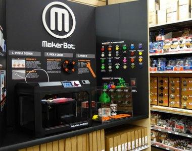 Home Depot MakerBot 3D Printer Display