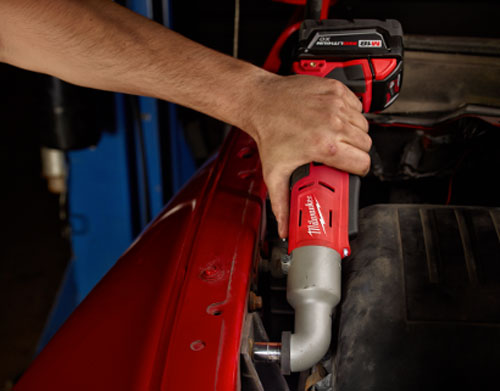Milwaukee M18 Right Angle Impact Wrench Reversed