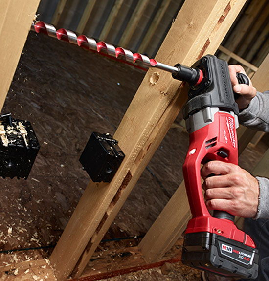 new milwaukee m18 fuel cordless hole hawg drills brushless