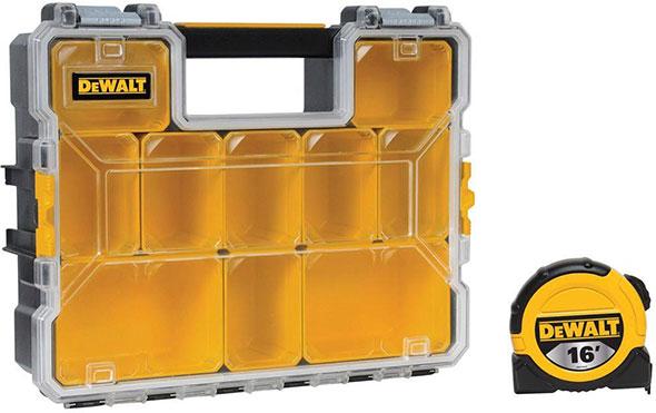 Home Depot Dewalt Storage Organizer and Tape Measure Bonus Deal