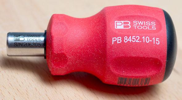 PB Swiss Stubby Bit Holder Screwdriver