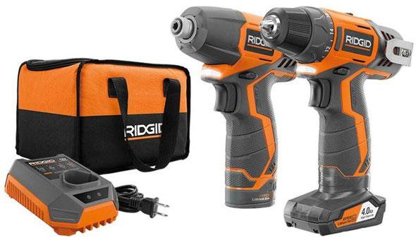 Ridgid 12V Drill Impact Driver Combo Kit 2014