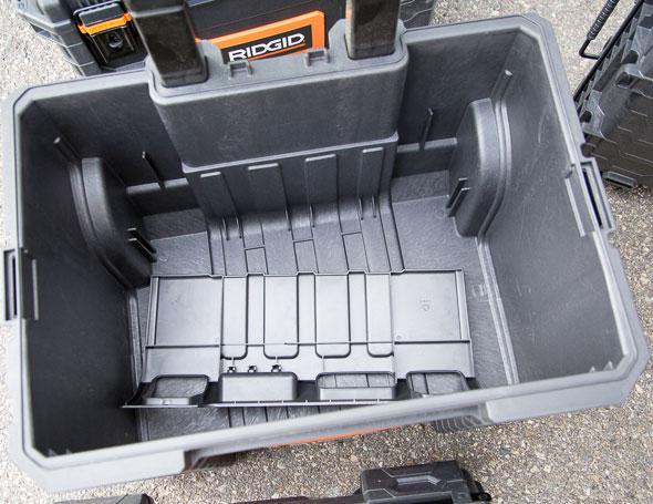 Ridgid Pro Tool Box Cart Compartment