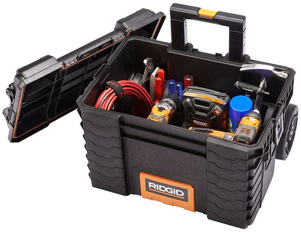 Ridgid Pro Tool Box Cart Filled with Tools