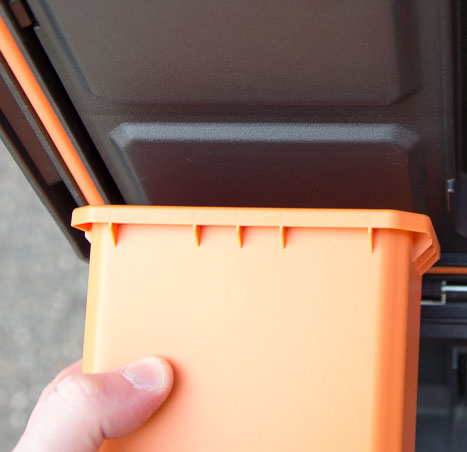 Ridgid Pro Tool Box Inner Lid Parts Bin Seal