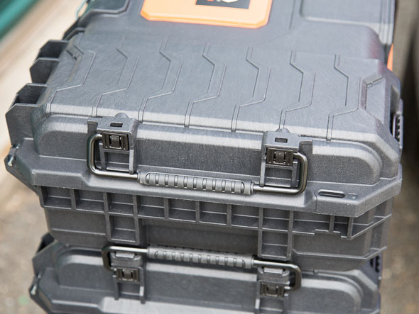 Ridgid Pro Tool Boxes Connected Together