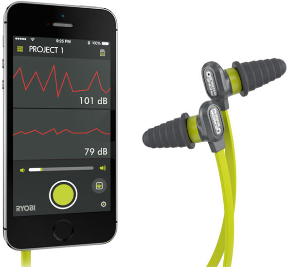 Ryobi Phone Works Hearing Protection Microphone Earbuds