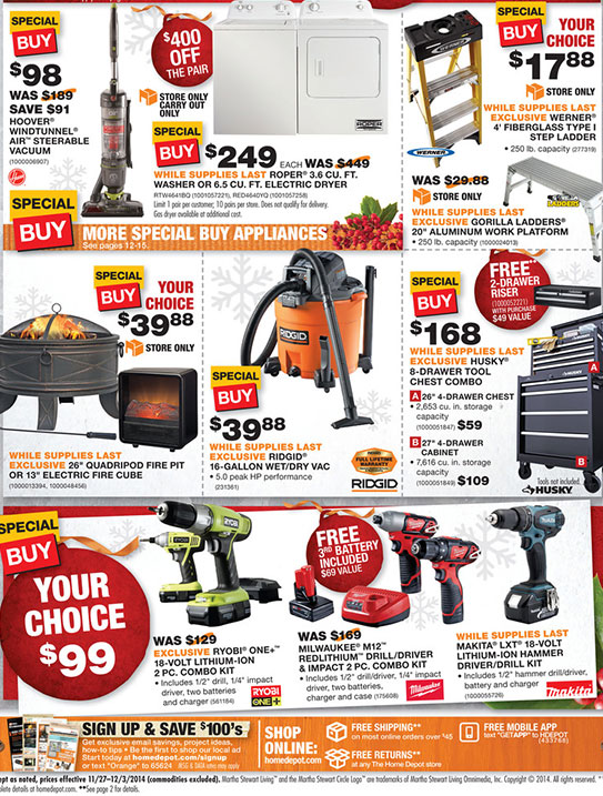 Home Depot Black Friday 2014 Page 1