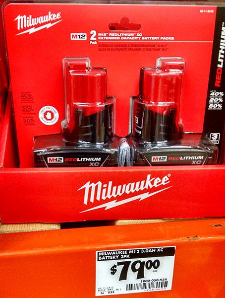 Home Depot Milwaukee M12 Li-ion Battery Deal