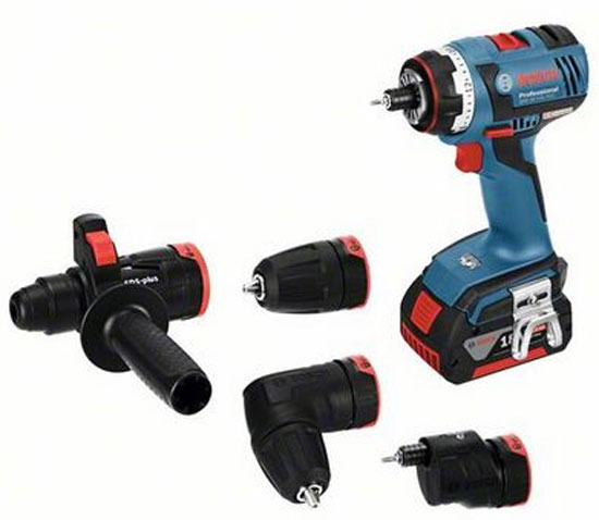 Bosch Cordless Drill with Interchangeable Heads System