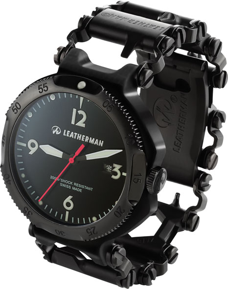 Leatherman Tread Multi-Tool Bracelet and Watch in Black