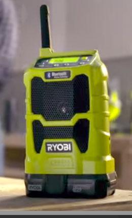 Ryobi 18V One+ Bluetooth Radio for 2015