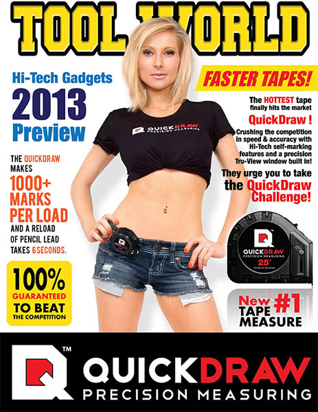 QuickDraw Tape Measure Fake Tool World Magazine Promo
