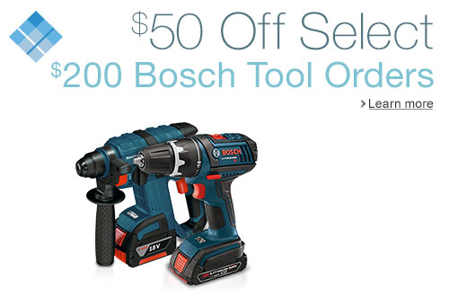 Bosch 50 off 200 Fathers Day 2015 Promo