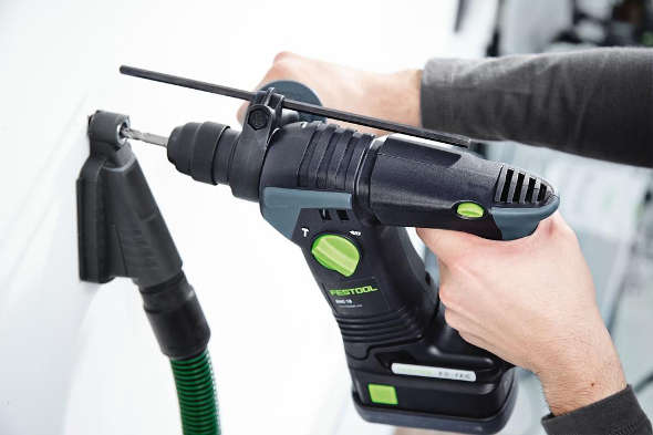 Festool 500483 Drill Dust Collection Nozzel in action