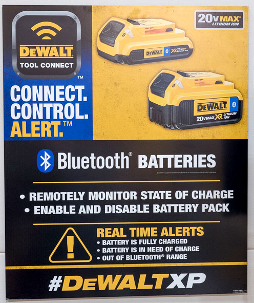 Dewalt Bluetooth Batteries Poster