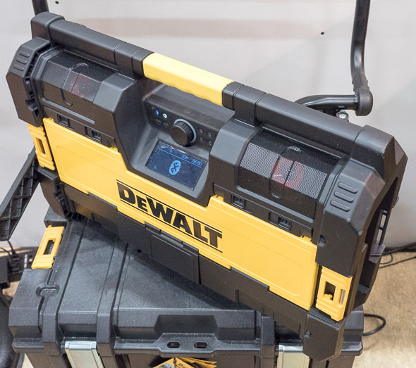 Dewalt ToughSystem Bluetooth Radio Standing Up