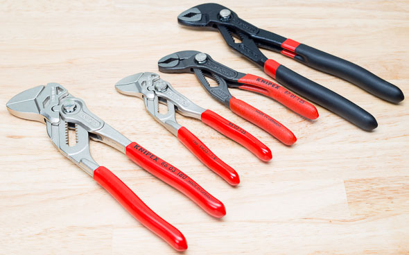 Knipex Mini Pliers Wrench and Mini Cobra Pliers with Larger Versions