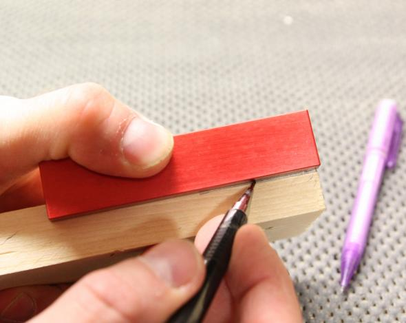 Marking the shoulders of the tenon