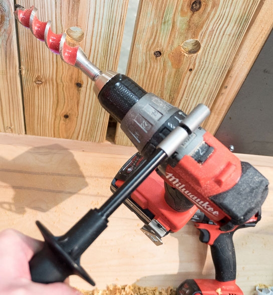 Milwaukee 2704 M18 Fuel Hammer Drill with Side Handle and Auger Bit