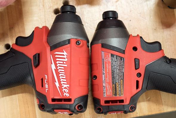 Milwaukee 2753 M18 Fuel Impact Driver vs 2653 Length Comparison