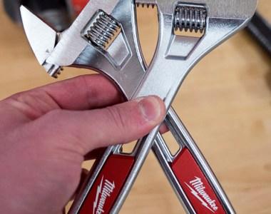 Milwaukee Adjustable Wrench Wide vs Standard Comparison