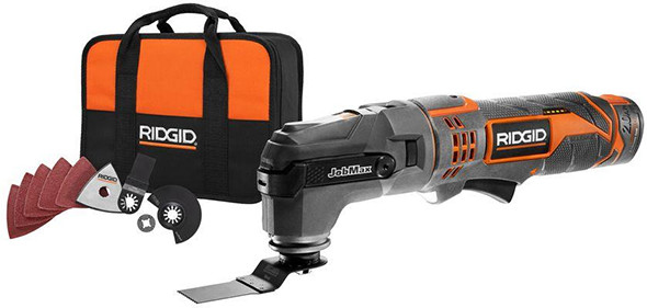 Ridgid 12V JobMax with Tool-Free Oscillating Multi-Tool Head