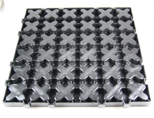 Back side of the X-Mat squares