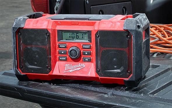 Milwaukee 2890-20 M18 Jobsite Radio on Tailgate