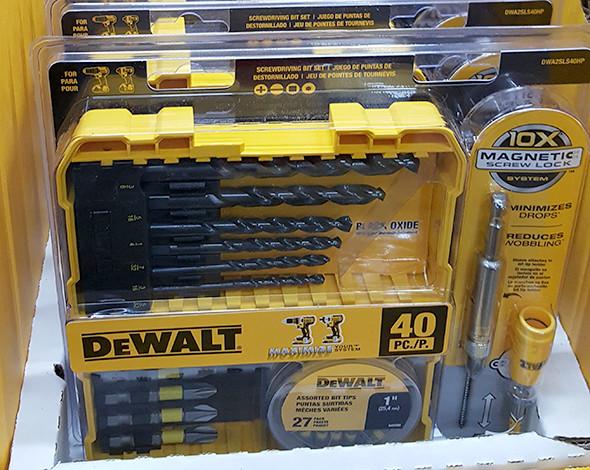 Dewalt 40pc Drilling and Driving Bit Set Home Depot Holiday 2015