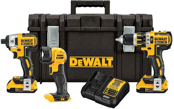 Dewalt DCKTS386D2 Brushless Hammer Drill Impact Driver LED Worklight ToughSystem Combo Kit