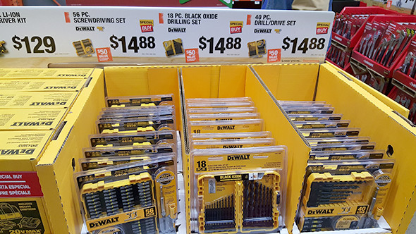 Dewalt Drilling and Driving Accessories Home Depot Holiday 2015