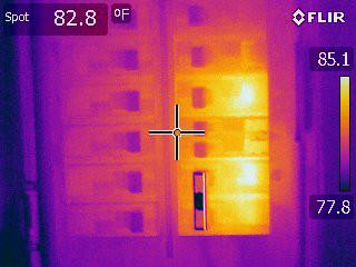 Flir E60 Thermal Image of Circuit Breaker Panel Iron Palette