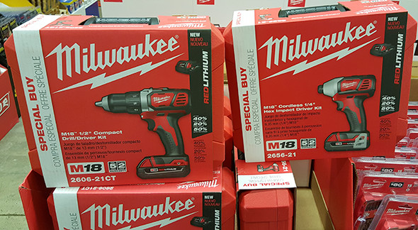 MIlwaukee M18 Drill and Impact Driver Deal at Home Depot Holiday 2015