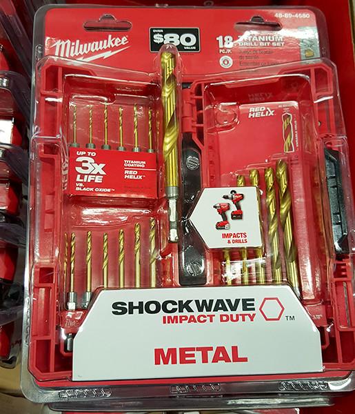 Milwaukee 18pc Shockwave Titanium Drill Bit Set Home Depot Holiday 2015