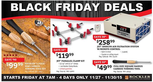 Rockler Black Friday 2015 Tool Deals Page 1