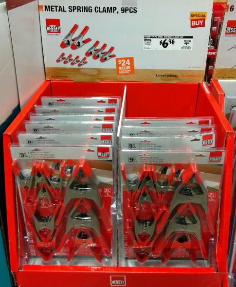 Bessey Spring Clamps Home Depot December Sale