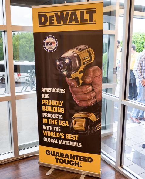 Dewalt Built in the USA Banner
