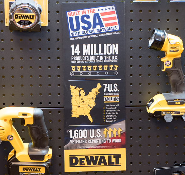 Dewalt Built in the USA Infographic