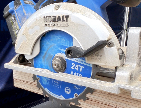 Kobalt 24V Max Brushless Circular Saw in Action
