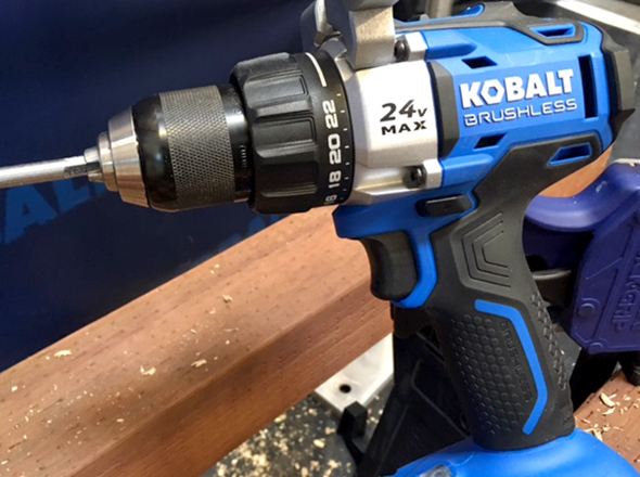 Kobalt 24V Max Brushless Drill Driver Action