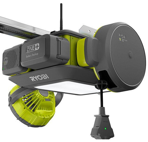 new ryobi garage door opener and modular accessory system