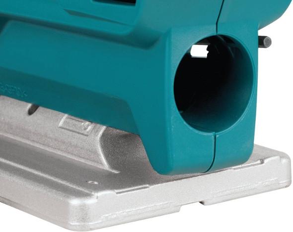 Makita VJ04R1 Jigsaw dust port closeup