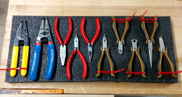 laying-out-my-pliers-on-a-section-of-kaizen-foam-from-fastcap