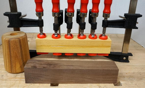 gluing-up-the-mallet-handle-out-of-yellowheart