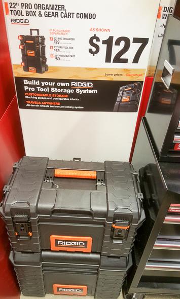 home-depot-black-friday-2016-tool-deals-ridgid-tool-box-combo-display
