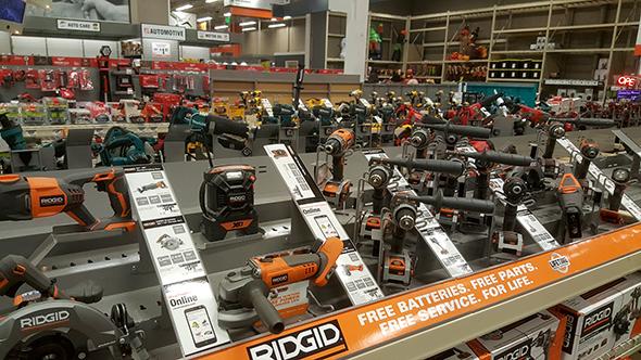 super-home-depot-power-tools-display