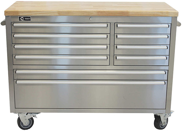 Trinity 48 inch stainless steel workbench at Costco