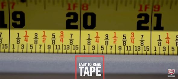 Craftsman Sidewinder Tape Measure Fractional Markings